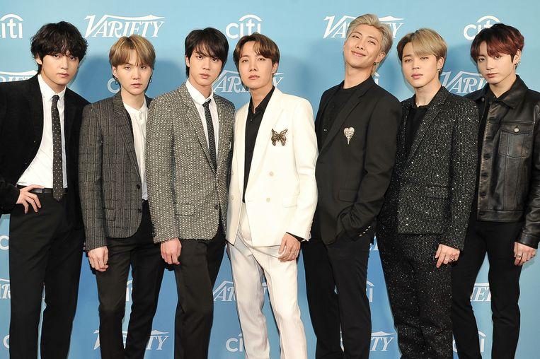 K-pop-band BTS voert de streaminghitlijsten aan.  Beeld Richard Shotwell/Invision/AP