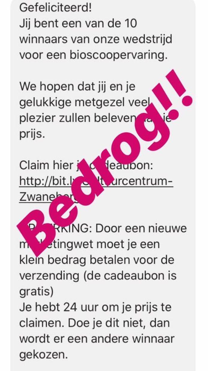 CC Zwaneberg waarschuwt voor oplichters via Facebook