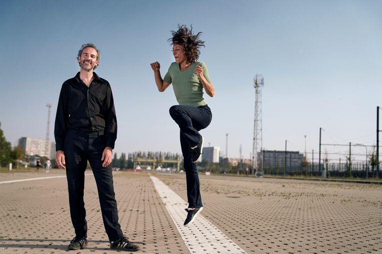 Maarten Van Cauwenberghe en Liesbeth Gruwez: 'Er is weinig solidariteit in  de kunstensector.We zijn níét tous ensemble.' Beeld Joris Casaer