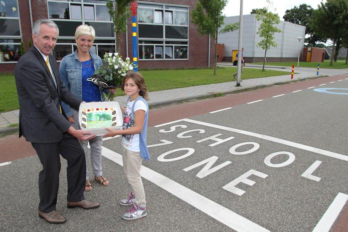 Bij de basisschool de Linderte in Raalte-Noord is jaren geleden al een schoolzone ingesteld.