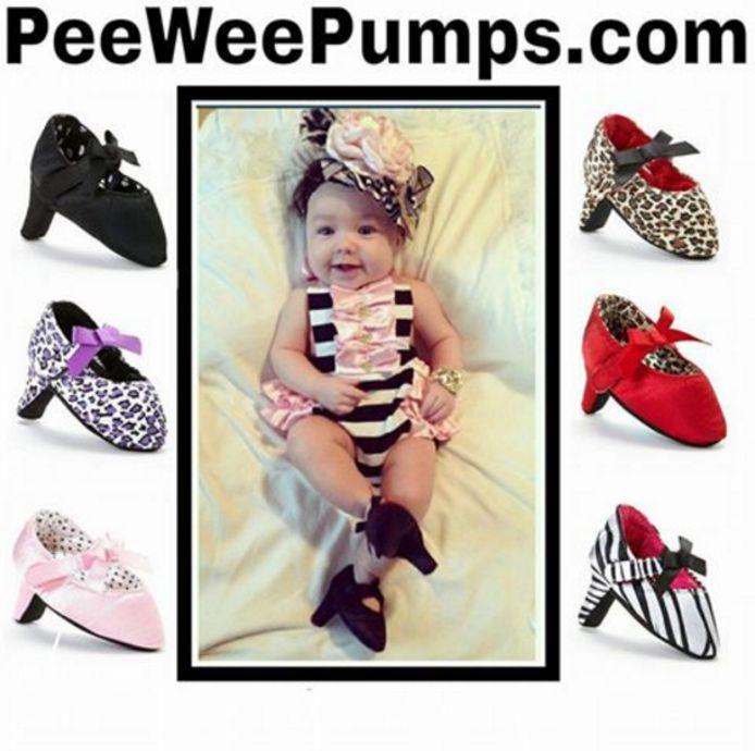 Pee Wee Pumps zijn bedoeld voor baby's van nul tot zes maanden.