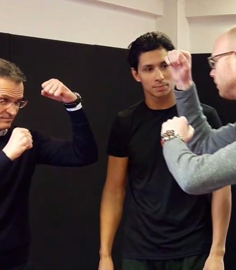VIDEO: 'Remco de Rosser' en 'Boem Boem Berry' op de vuist op middenstip RKC