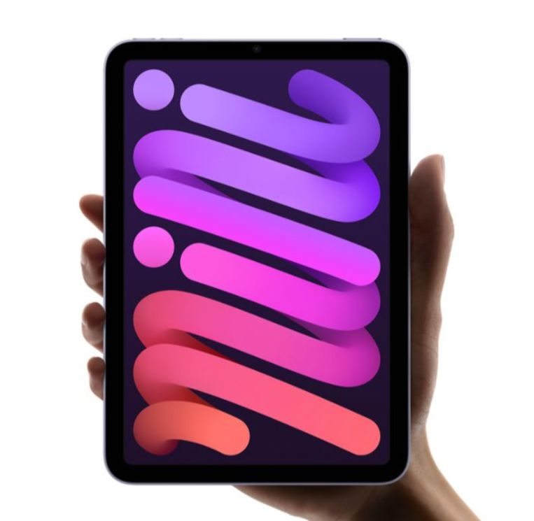 De nieuwe iPad Mini heeft geen home-knop aan de voorzijde meer Beeld Apple