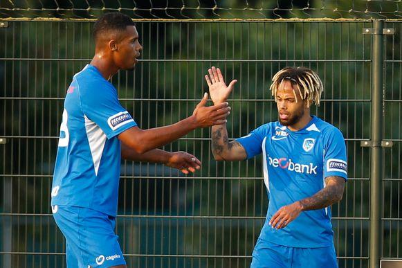 Gano (links) en Bongonda pikten elk hun doelpuntje mee.