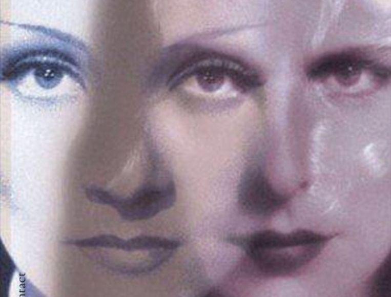 Omslag van de biografie van Dietrich & Riefenstahl. Beeld
