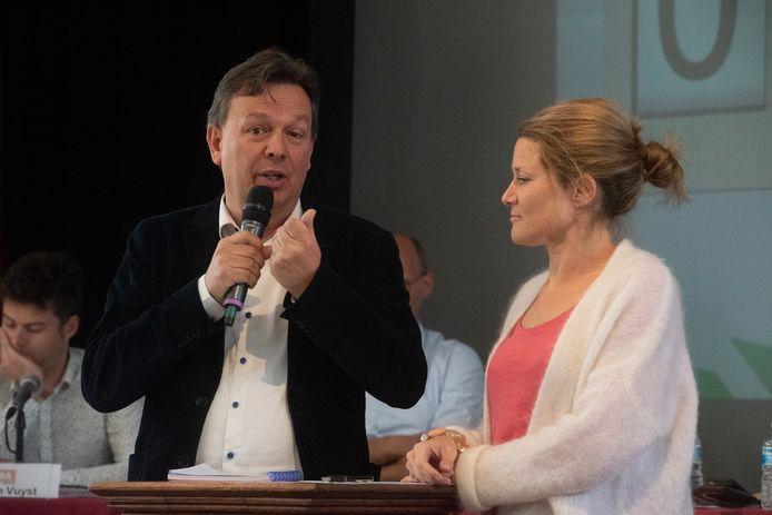 Politiek debat College Melle : Stefaan Van Hecke en Anneleen Van Bossuyt.