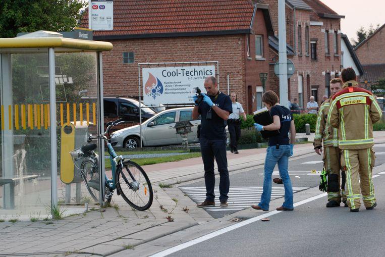 De verhakkelde elektrische fiets van het slachtoffer.