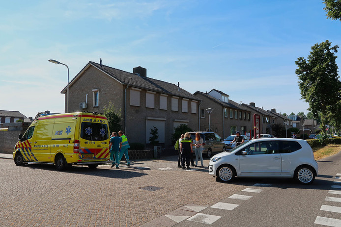 Ongeluk op de Braakstraat in Oss.