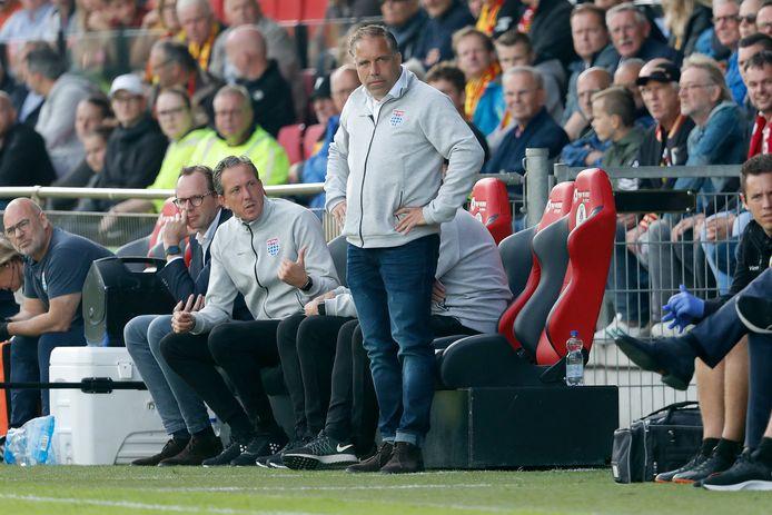 PEC Zwolle-trainer Art Langeler had zondagmiddag tegen GA Eagles (1-0 nederlaag) weinig reden tot lachen.