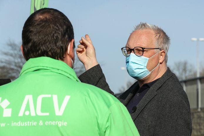 Ook PVDA-kopstuk Peter Mertens was in Puurs van de partij.