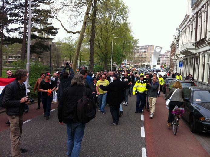 De demonstratie is begonnen in Nijmegen. Foto: DG