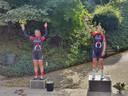 In het Limburgse Ulestraten stonden na een wielerwedstrijd ook de medaillewinnaars op anderhalve meter van elkaar.