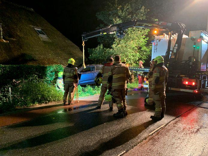 Het ongeval in Lunteren  waar de fotograaf naartoe ging.