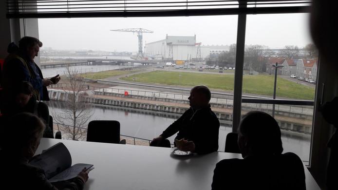 Uitzicht vanuit het WTS-kantoor in Vlissingen: inspirerend voor architecten.