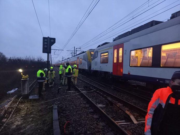 De trein ontspoorde vlak bij de stopplaats van Weerde.
