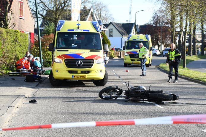 Op de Oudelandseweg was eind april een ongeluk met een motorfiets.