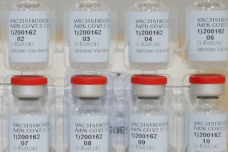 Het Janssen-vaccin uit Leiden. Beeld via REUTERS