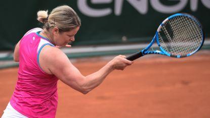 Kim Clijsters grijpt, ondanks drie matchballen, naast eindzege bij Women's Legends op Roland Garros