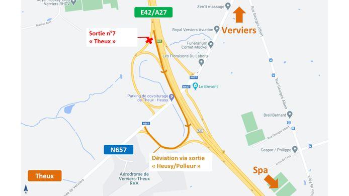 Le chantier à Theux pour l'aménagement d'un giratoire situé chaussée de Verviers débute ce lundi 12 avril.