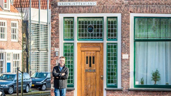 René Dings op het Vrouwjuttenland in Delft.