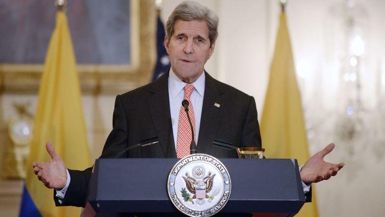 De Amerikaanse minister van Buitenlandse Zaken John Kerry. Beeld epa