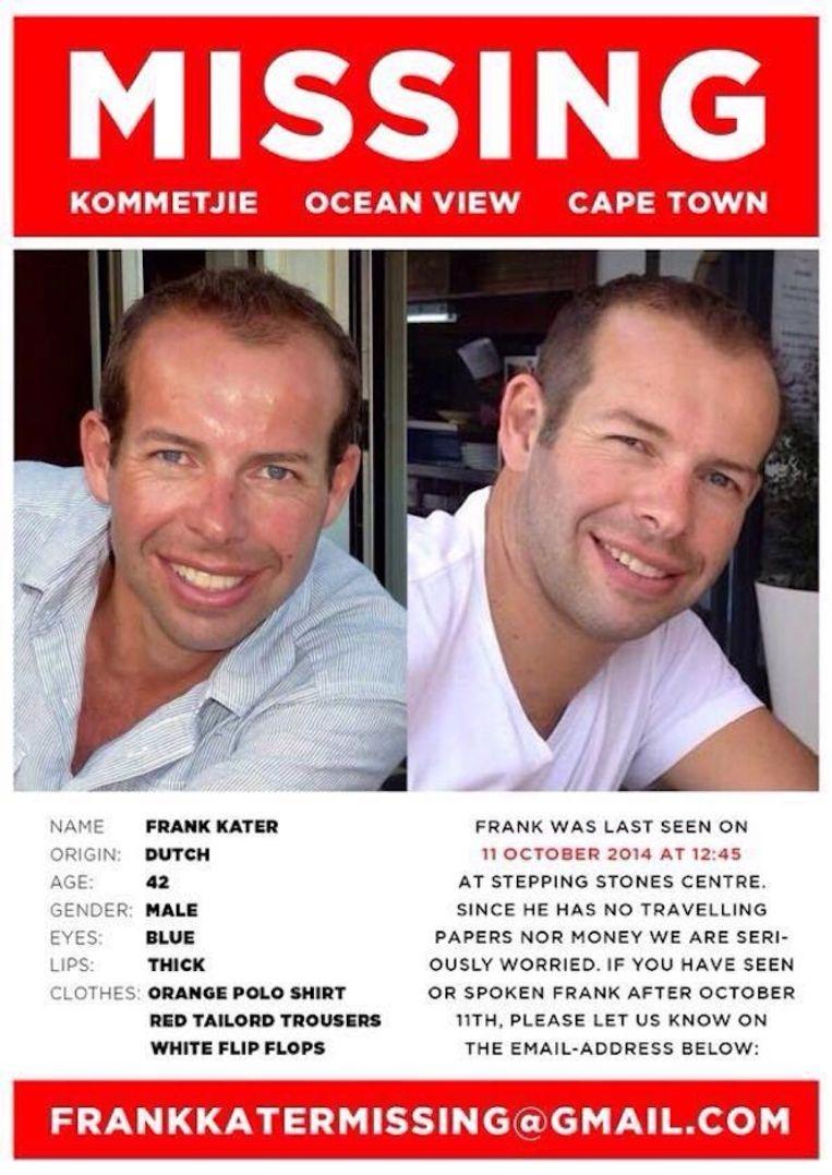 De poster die in Kaapstad is verspreid. Beeld .