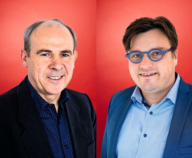 Kris De Schutter (l) en Luc Van Liedekerke. Beeld Wouter Van Vooren
