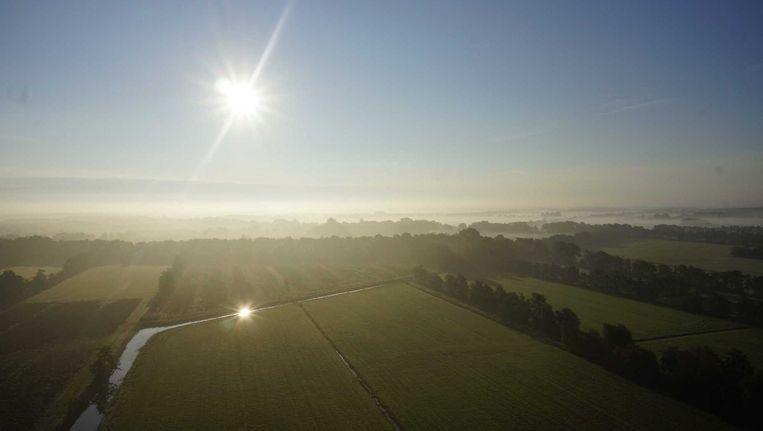 Mist boven Friesland. Beeld anp