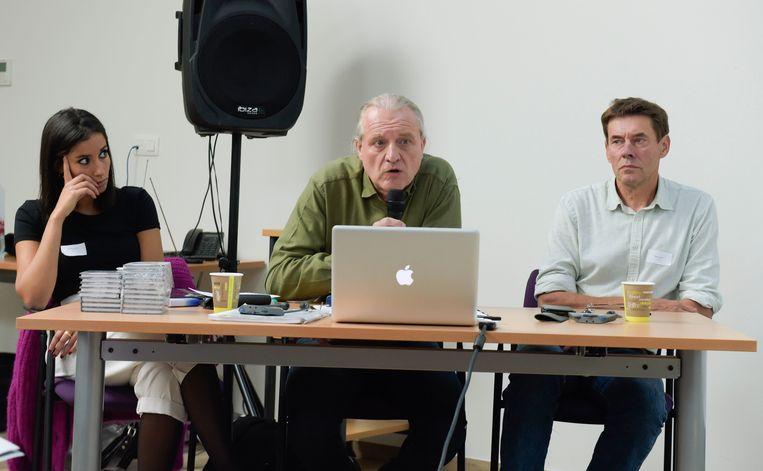 Van links naar rechts: Hannan Jamai, Bart Conix en Gerrit Loots. Beeld Photo News