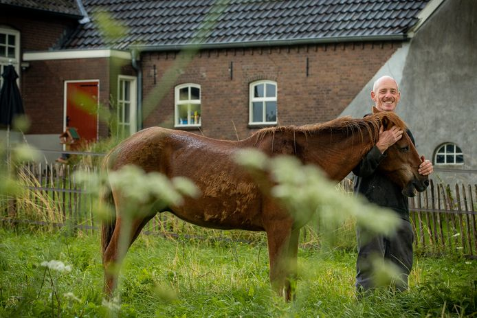 Hylke Wiersma en met paard Fàfnír.