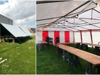"""Wingene voorziet open tenten voor vergaderingen van verenigingen: """"Lang niet iedereen is mee met het digitale vergaderen"""""""