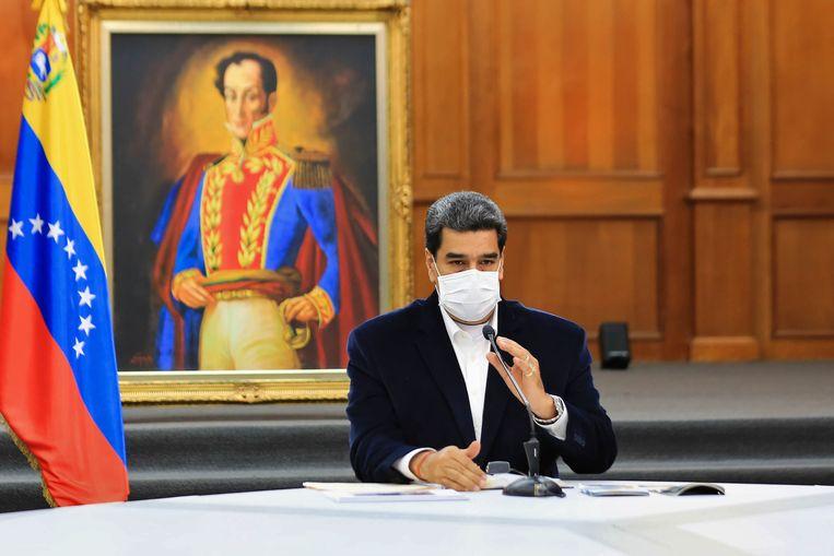 De Venezolaanse president Nicolás Maduro. (04/05/2020) Beeld AFP