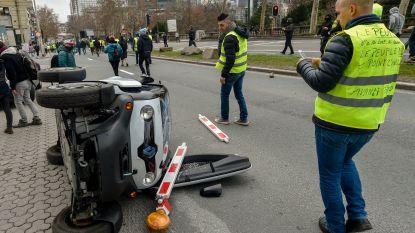 Eerste betoging 'gele hesjes' in Brussel veroorzaakte voor meer dan 55.000 euro schade