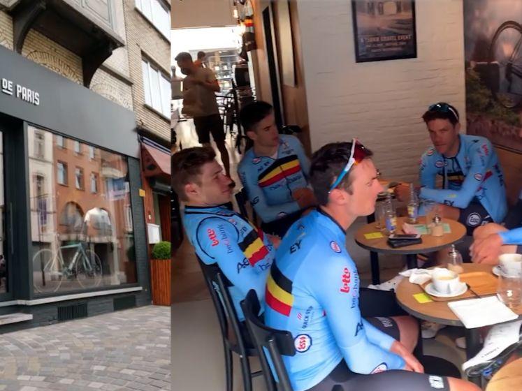 Leuke verrassing voor fietsbar in Mechelen, Belgische wielerploeg komt op de koffie