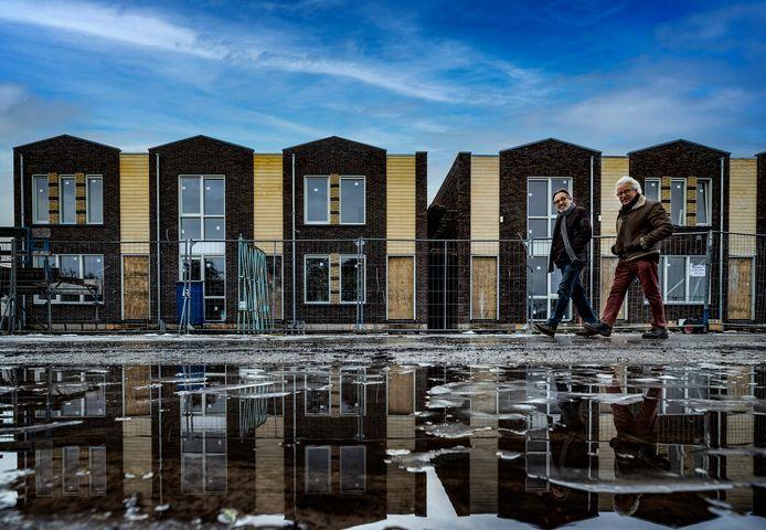 Nieuwbouwwijk Groote Hoeven in Someren, waar de zoon van weggestuurde wethouder Schoolmeesters een starterswoning toegewezen heeft gekregen. Het gaat om de middelste woning.