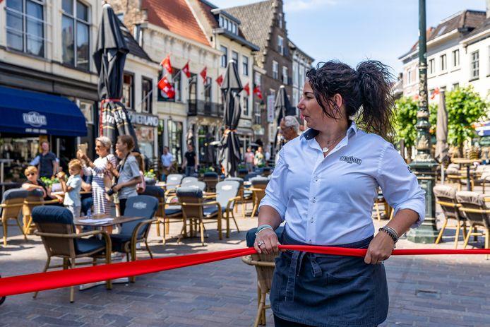 De terrassen gaan open in Breda.