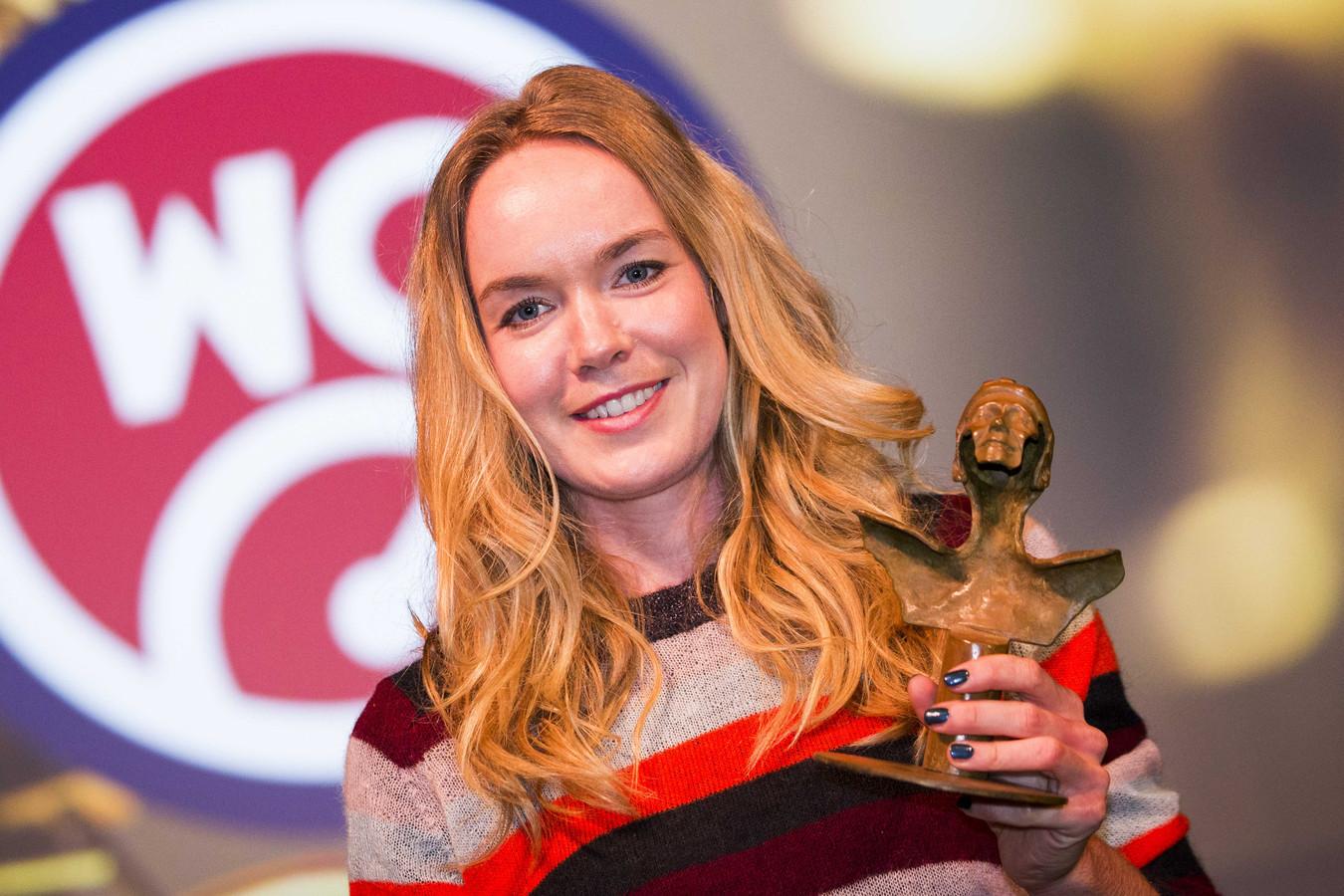 2018-12-03 21:58:34 DEN BOSCH - Anna van der Breggen is uitgeroepen tot wielrenster van het jaar tijdens het Wielergala in De Maaspoort. ANP VINCENT JANNINK
