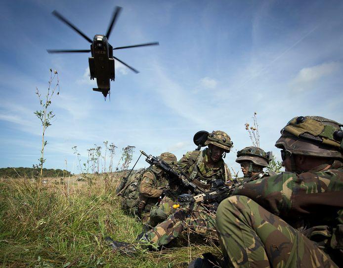 Militairen tijdens een training, foto ter illustratie.
