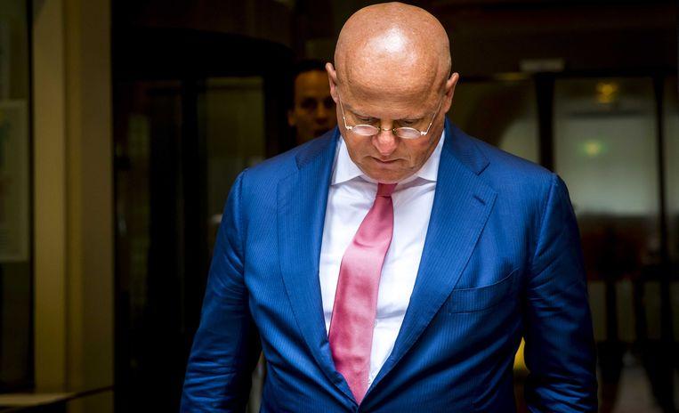 Minister Ferdinand Grapperhaus van Justitie en Veiligheid (CDA) na afloop van de ministerraad op 22 augustus. Volgens de commissie-Hoekstra heeft Grapperhaus geen werk gemaakt van aanbevelingen om het toezicht op verwarde personen te verbeteren. Beeld ANP