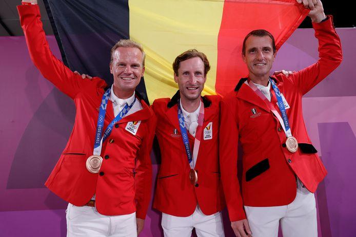 Het Belgisch jumpingteam legde beslag op een bijzonder knappe derde plaats.