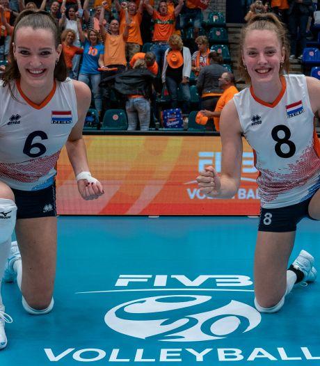 Twentse volleybalsters 'erg blij en megatrots' op vierde plek Jong Oranje op WK onder 20