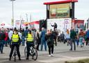 Politie hield vandaag toezicht tijdens de campagne van Baudet in Harderwijk.