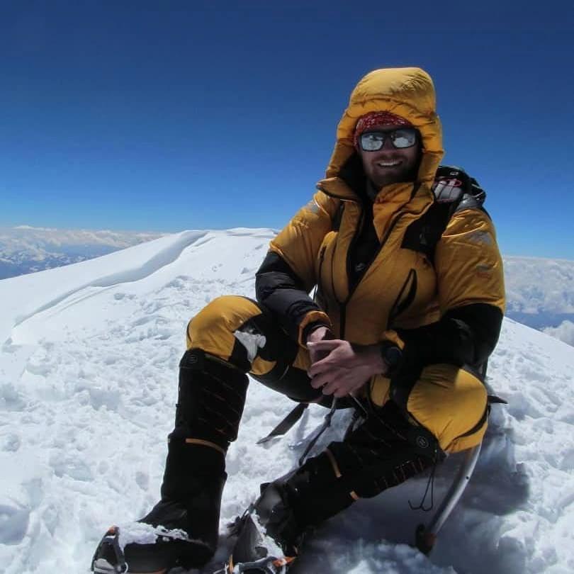 Niels Jespers tijdens een eerdere beklimming van de K2