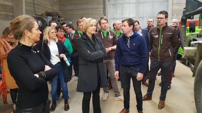 Jonge boeren en minister Crevits verklaren elkaar op Valentijnsdag de liefde