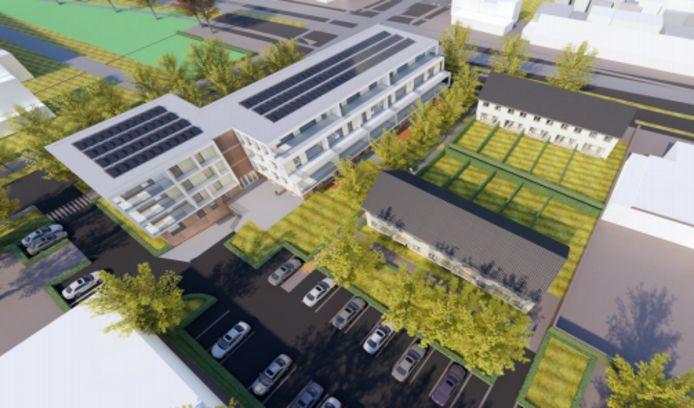 Het plan voor woningen op de hoek van de Keermanslaan en de Allerheiligenweg in Breda.
