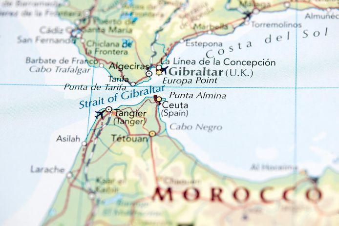 L'enclave espagnole de Ceuta constitue la seule (avec Melilla) frontière terrestre de l'Union européenne avec l'Afrique