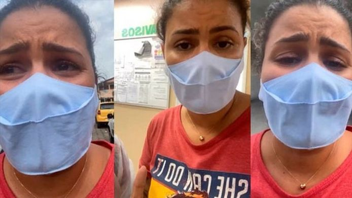 Thalita Rocha, wier schoonmoeder in een van de ziekenhuizen van Manaus een gevecht voerde tegen de verstikking