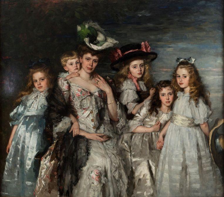 Thérèse Schwartze: Portret van  Aleida van Ogtrop-Hanlo en haar vijf kinderen (1906). Centraal Museum, Utrecht. Beeld Getty Images