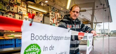 Kijken, kijken, maar kopen mág niet op de markt vandaag: 'We hebben heel veel klanten teleurgesteld'