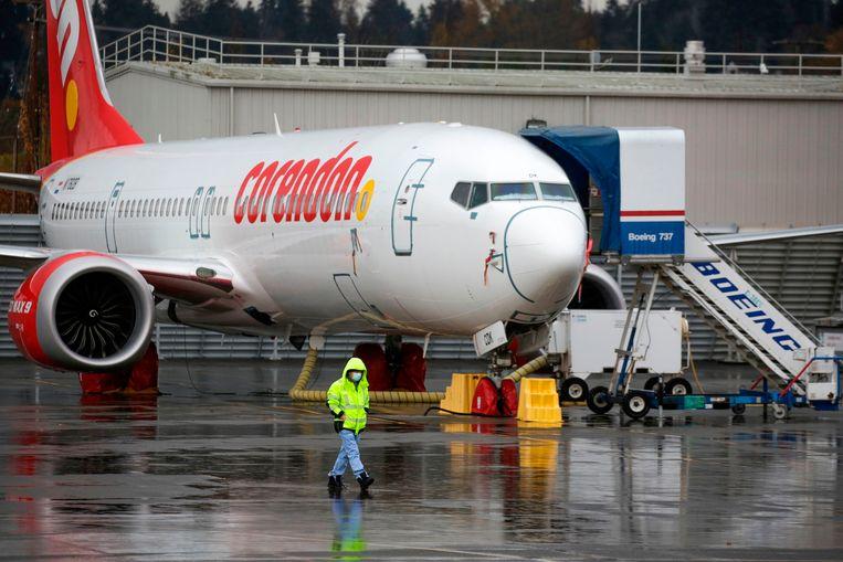 Een Boeing 737 van Corendon Airlines. Beeld AFP